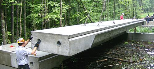 deck beams and bridge planks